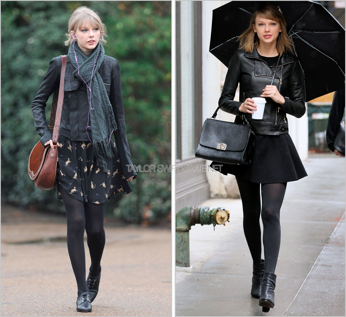 taylor swift black leather jacket styles