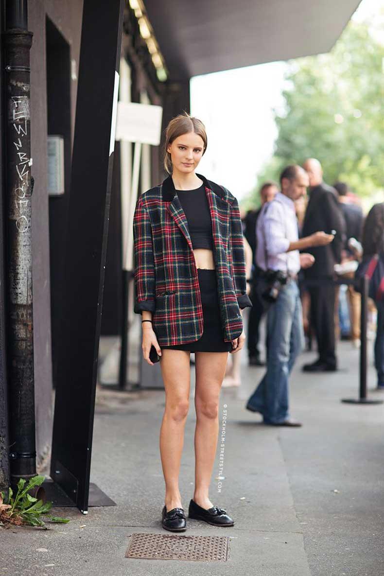 tweed blazer street styñe