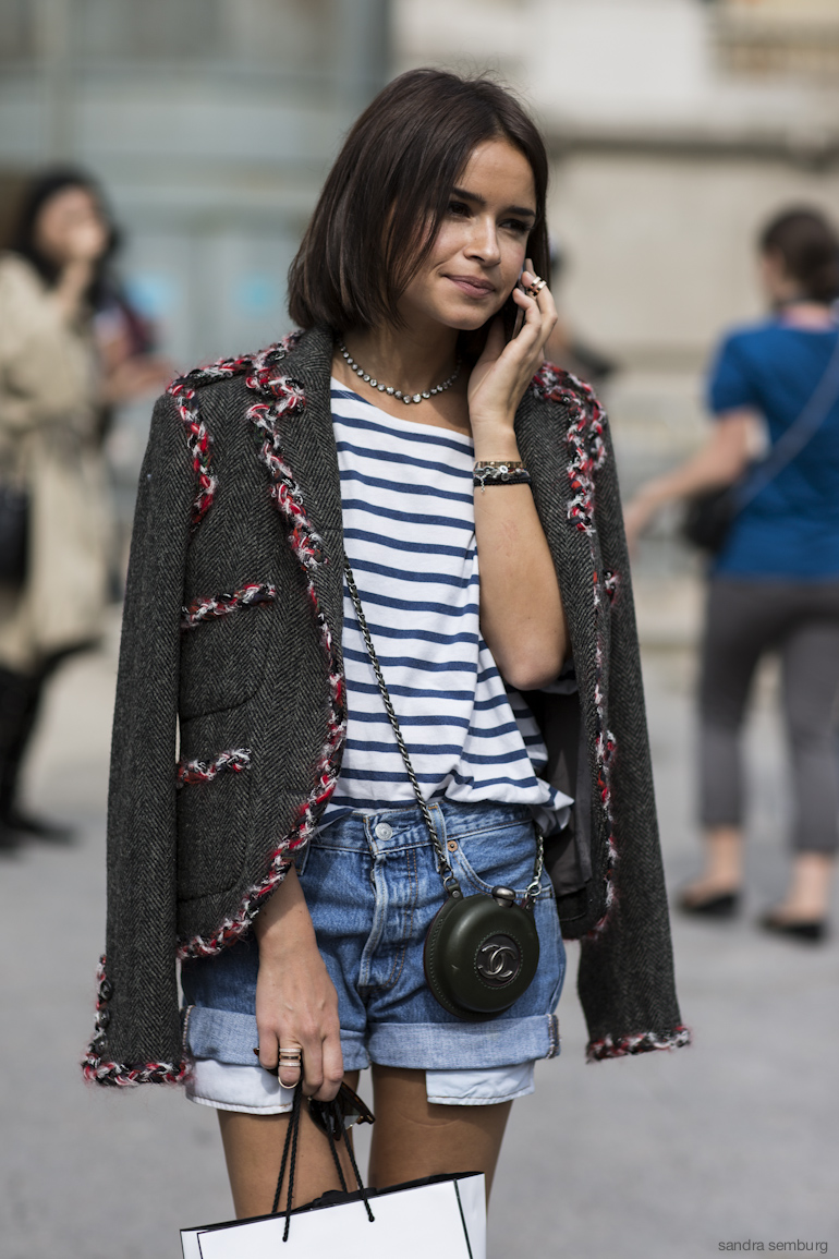 tweed blazer street style 2
