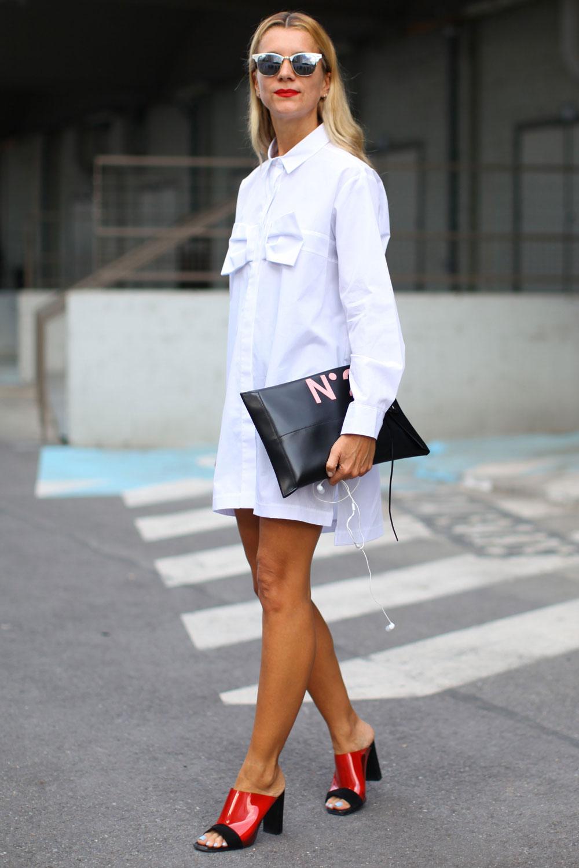 white shirt street style 2015 2