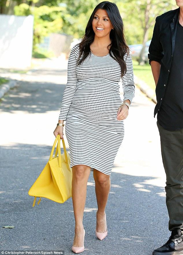 Kourtney Kardashian maternity style
