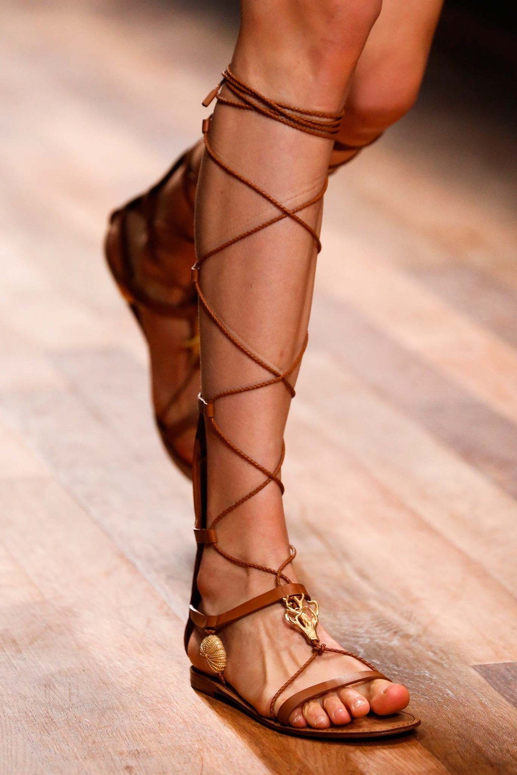 a valentino lace up gladiator ss15