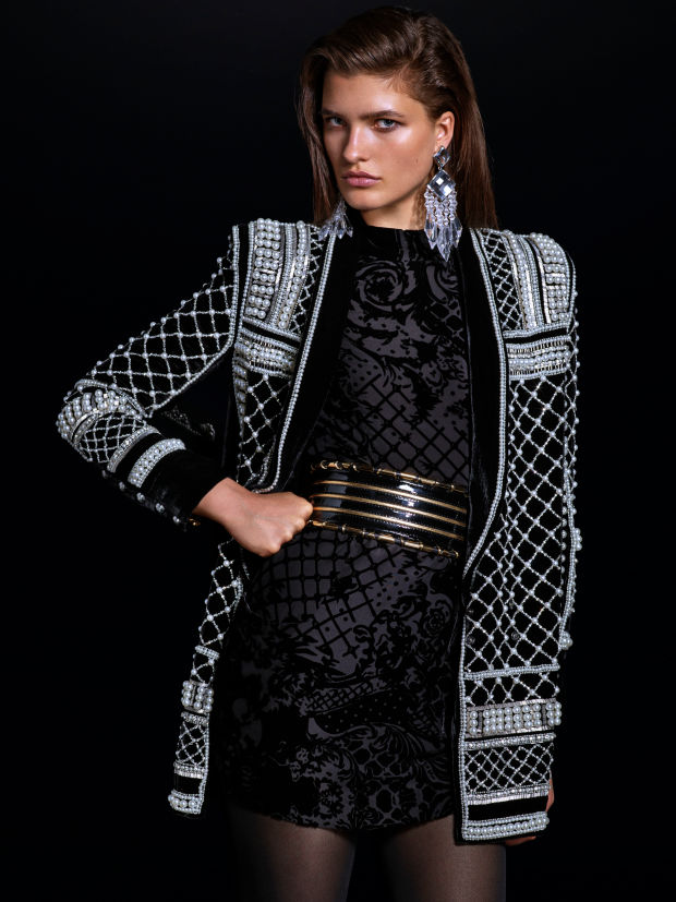 balmain x hm lookbook 1