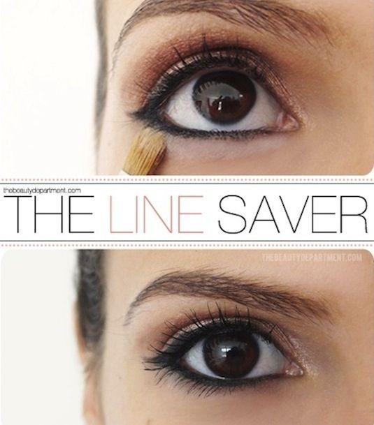 make up tip eyeliner and powder