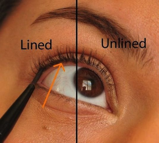 make up tip liner and lashes