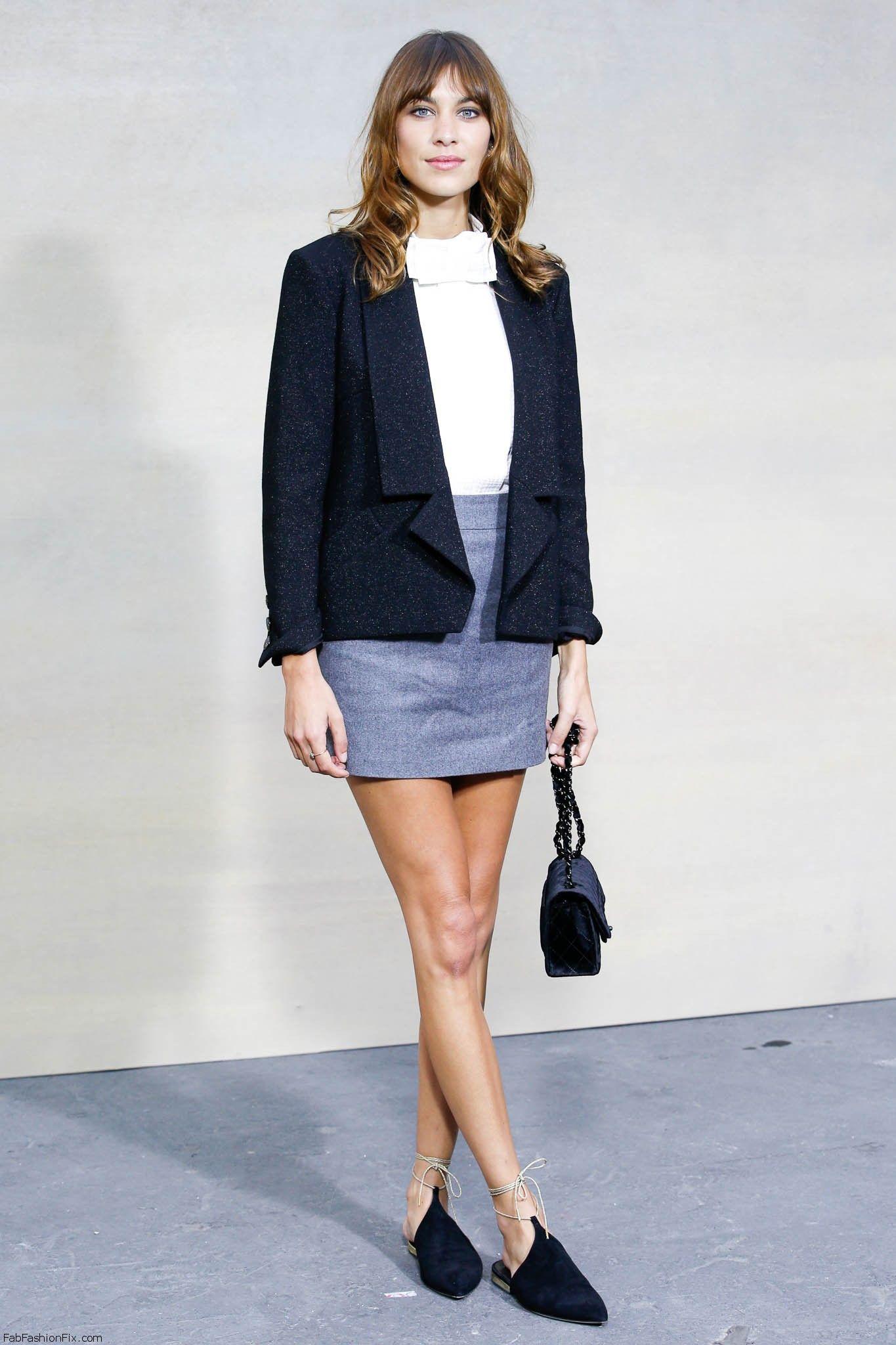mid season skirt and blazer look 1