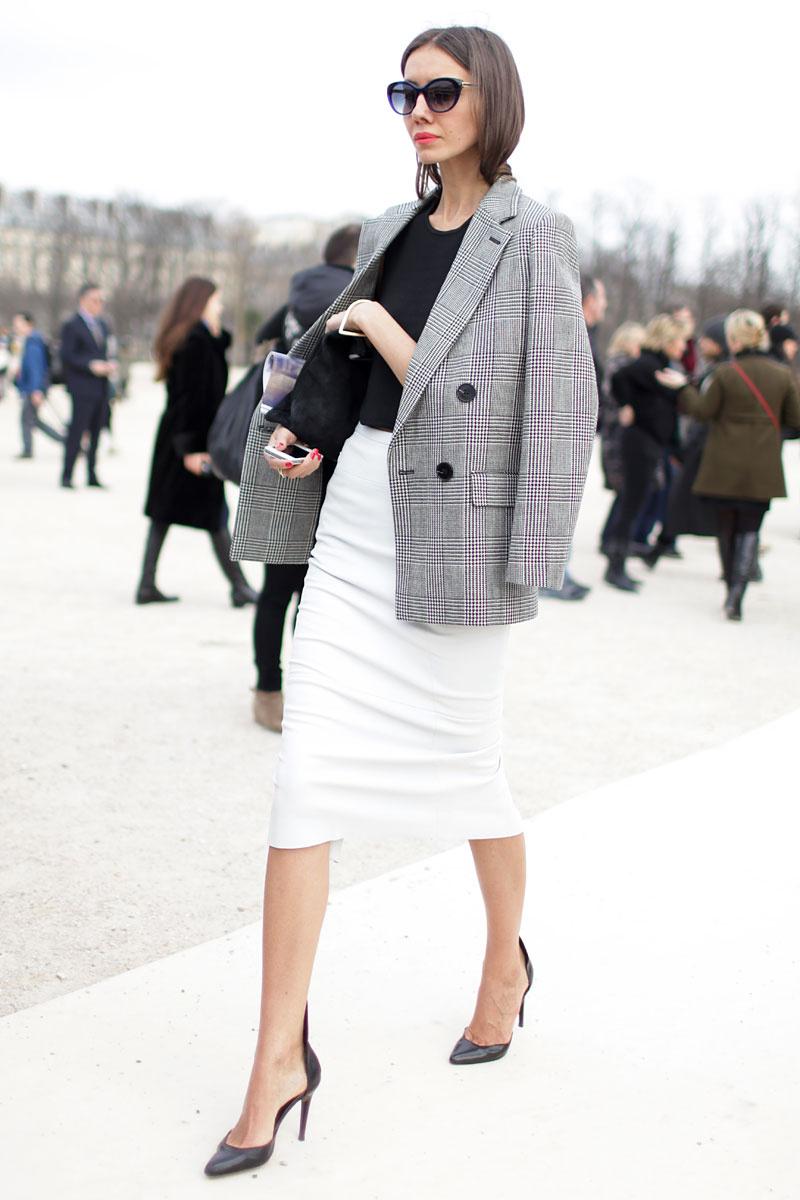 mid season skirt and blazer look 2