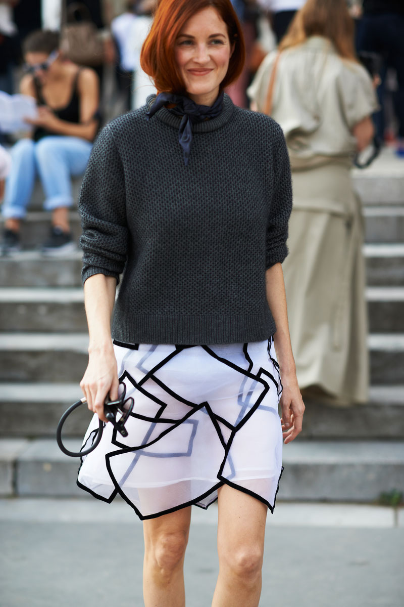 mid season skirt and turtleneck