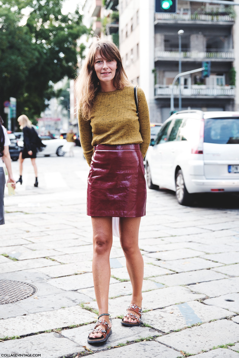 mid season skirt leather and sweater