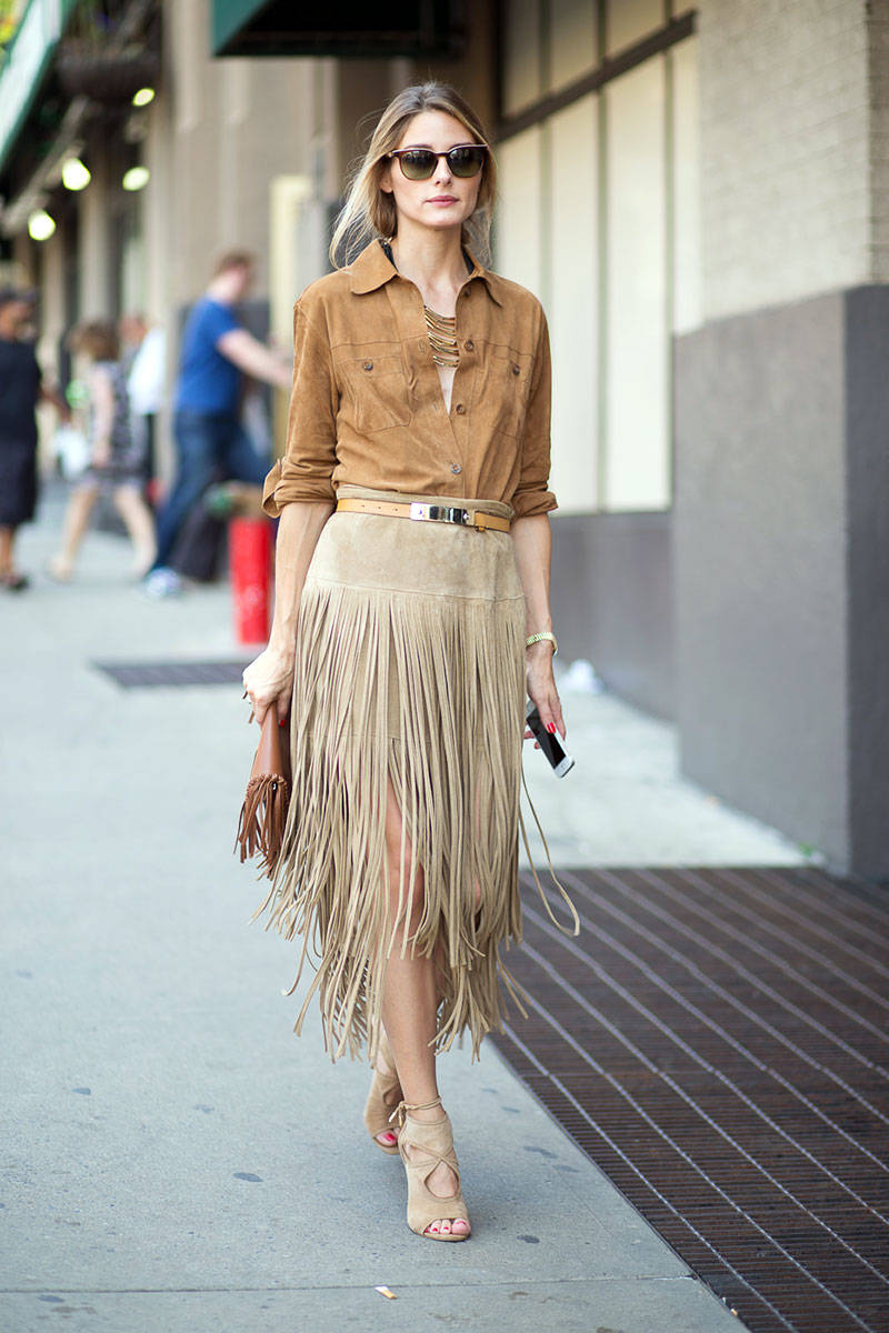 mid season skirt suede look