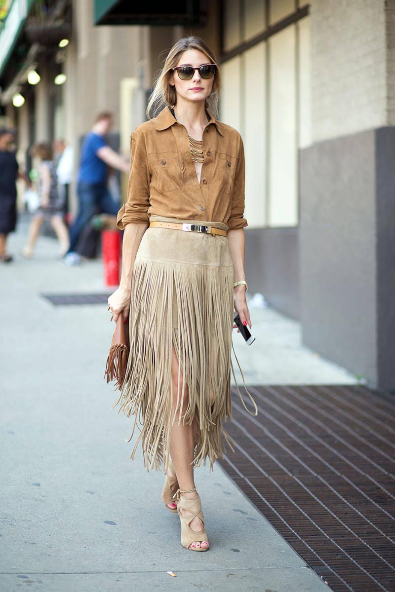 mid season skirt suede look