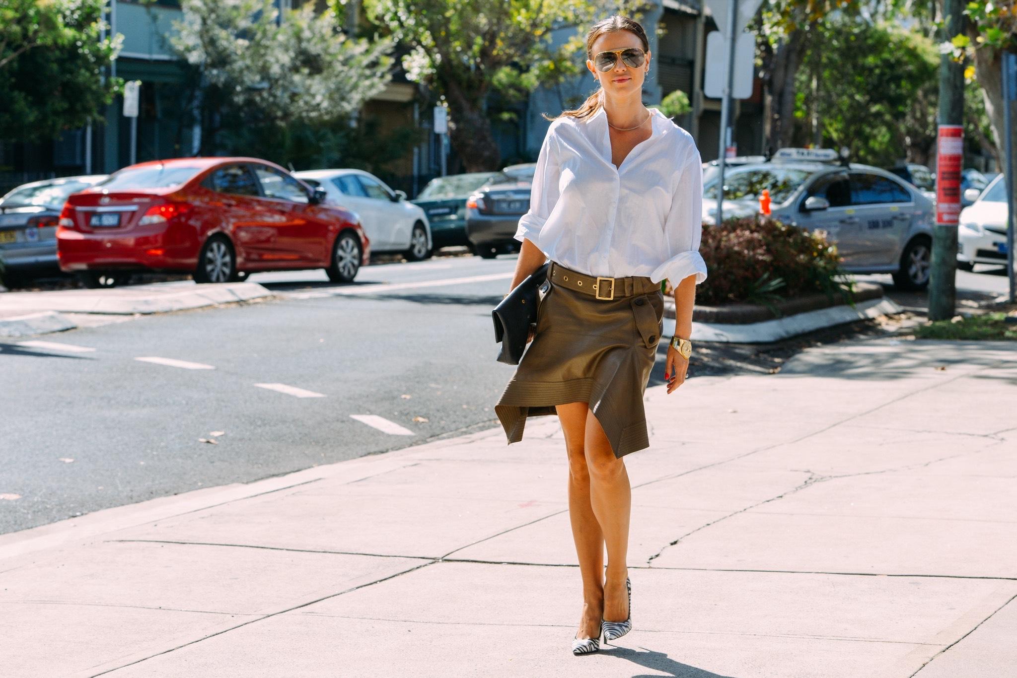 mid season skirt white shirt 2