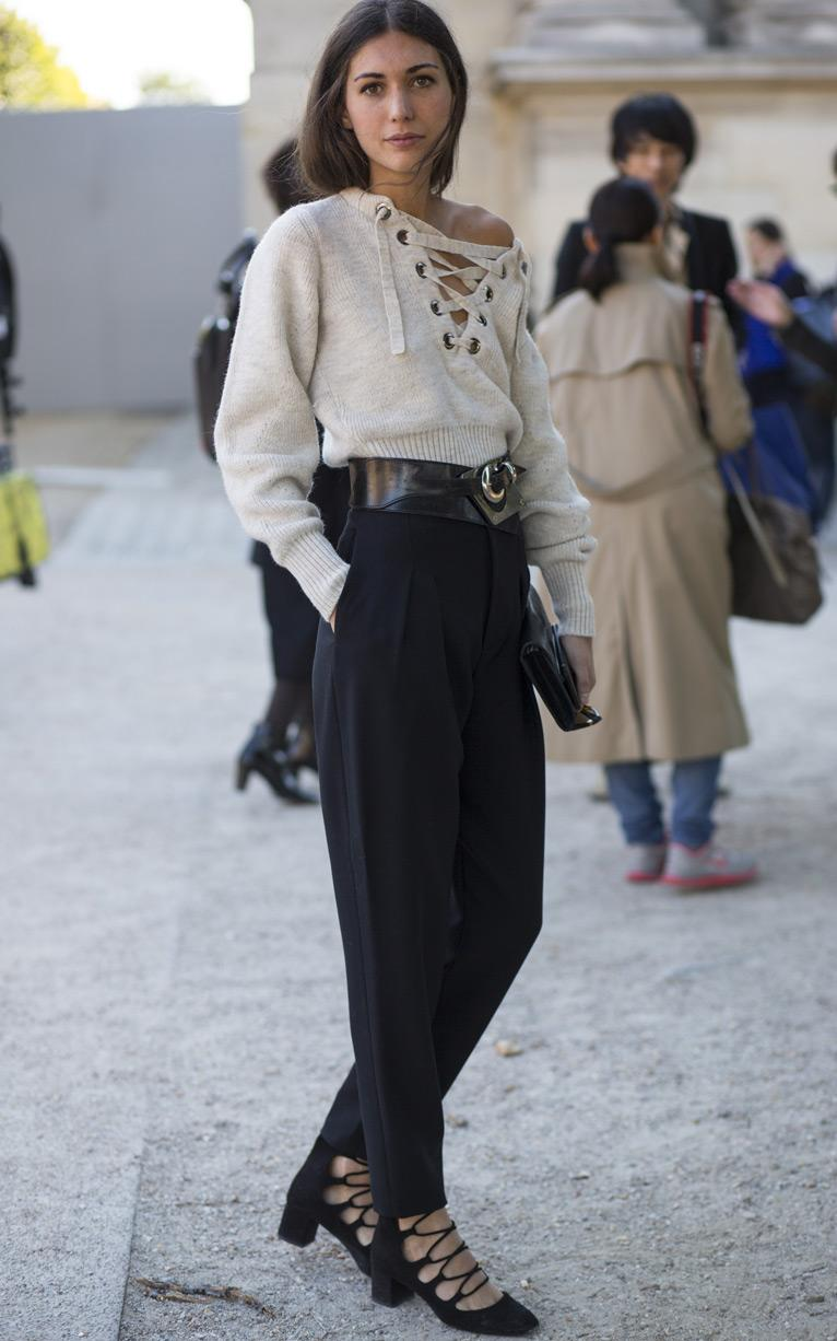 lace up knits street style 2
