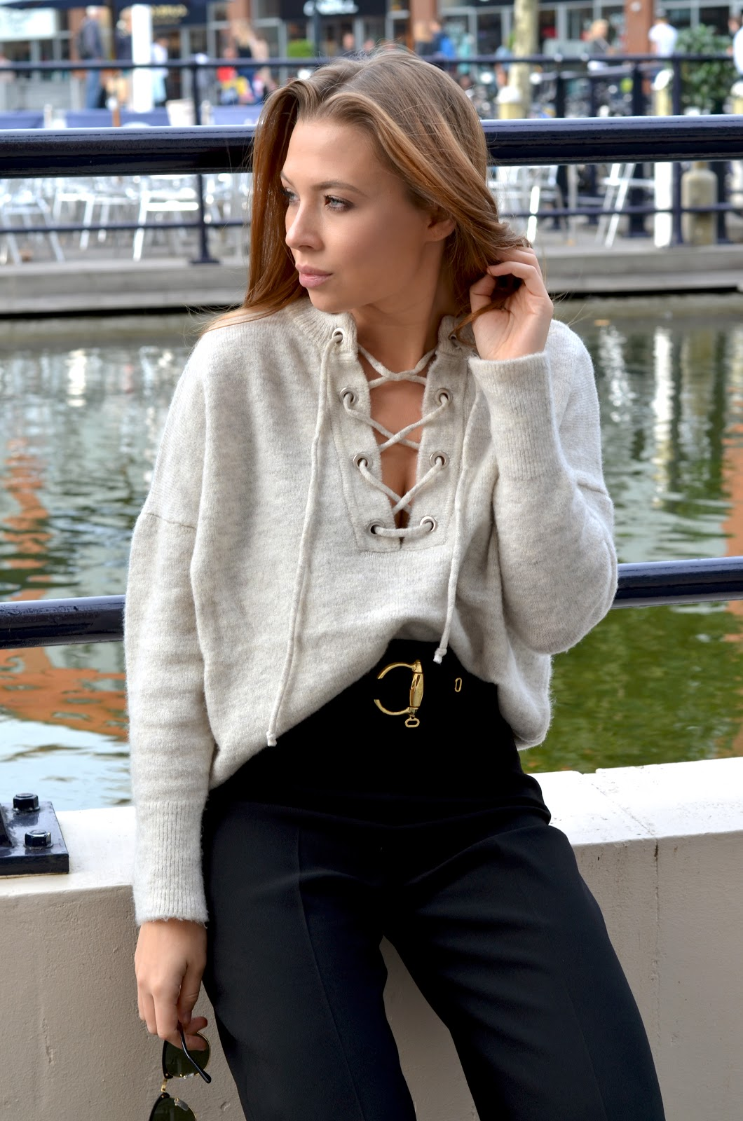 lace up knits street style 3
