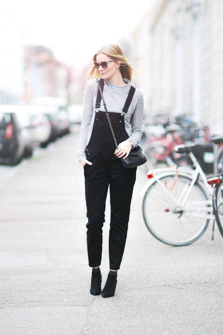 black overalls look 2