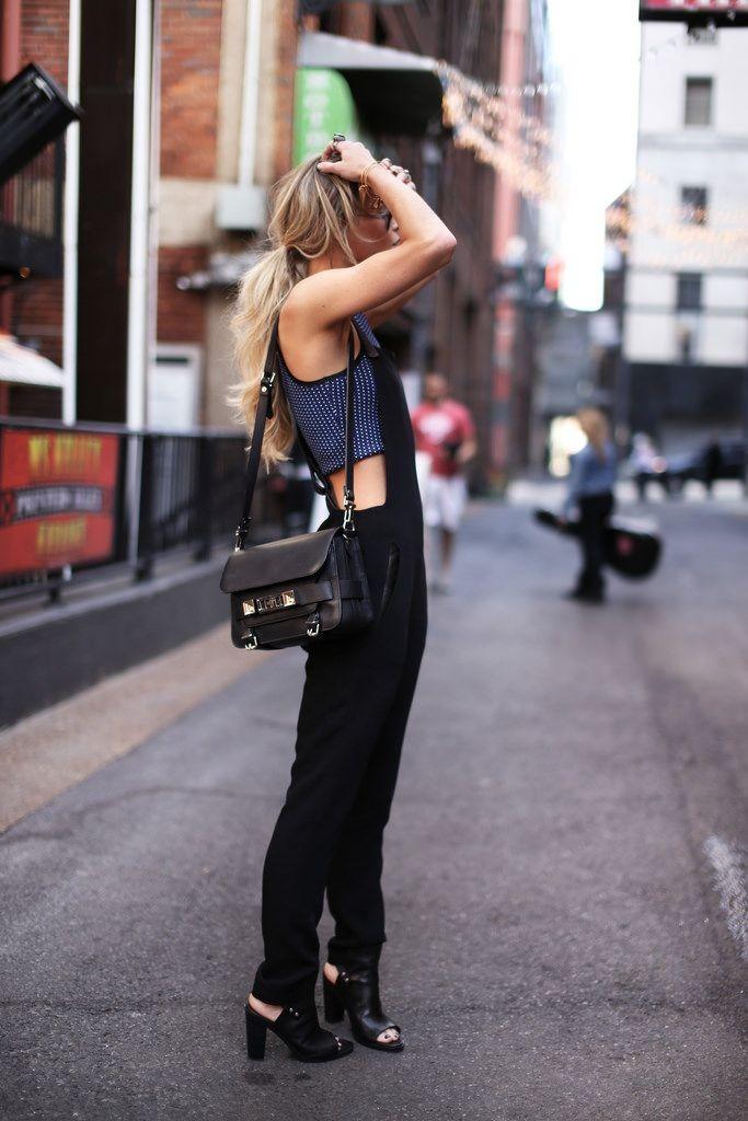 black overalls look 4