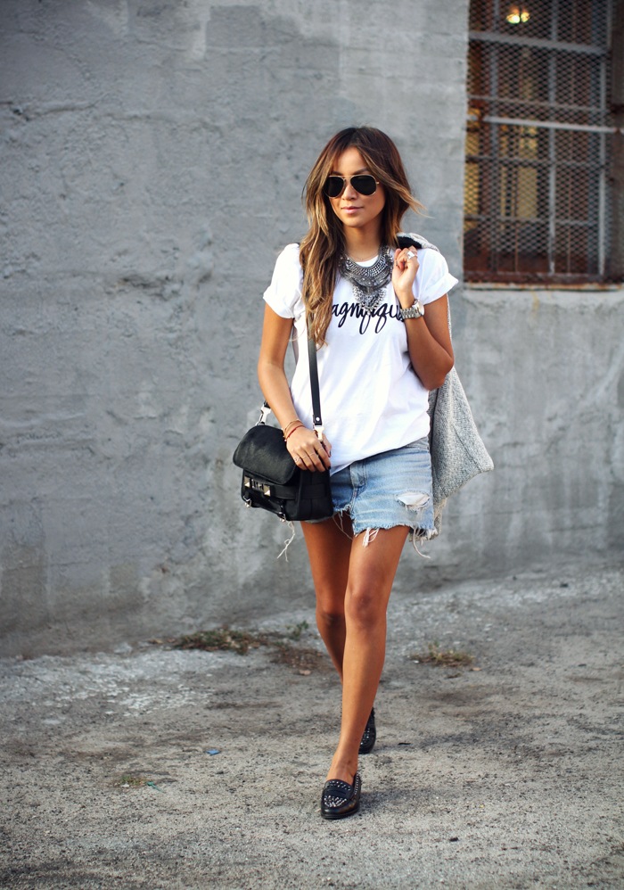denim mini skirt 2016 look 2