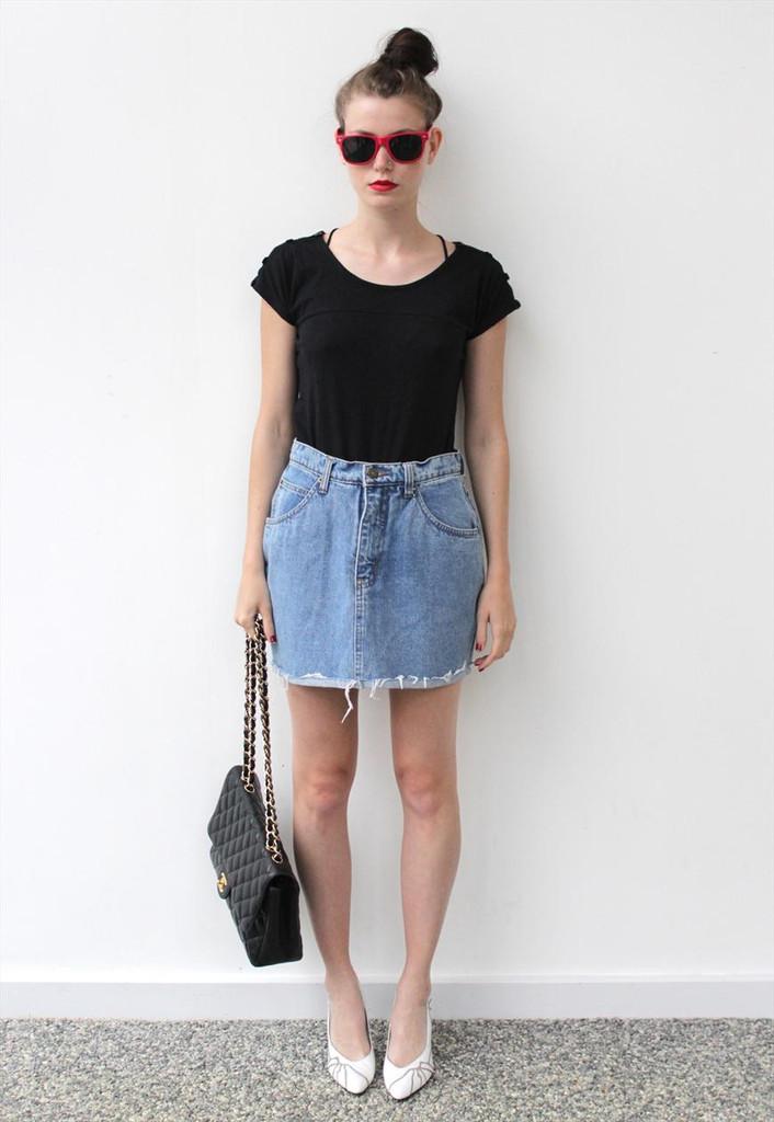 denim mini skirt 2016 look 6