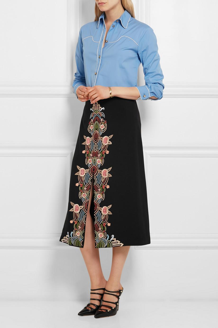 looks de oficina falda color 2