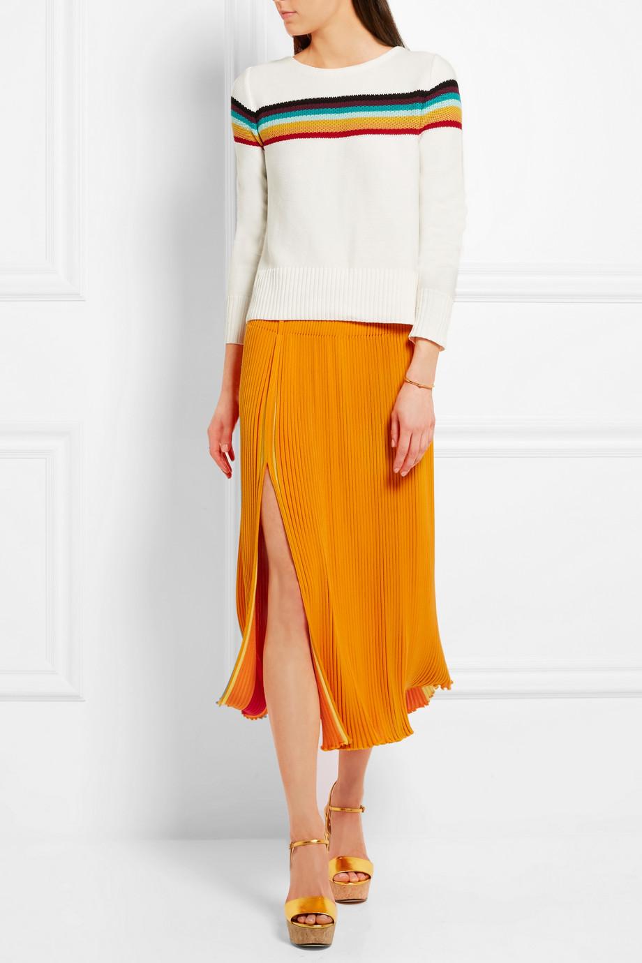 looks de oficina falda color 3