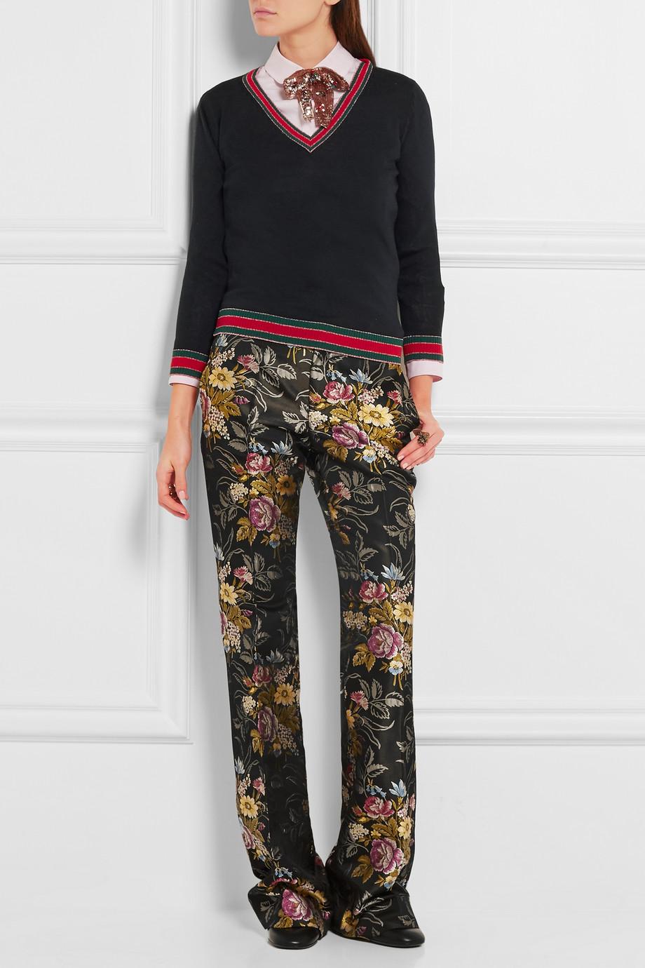 looks de oficina floral pants 1