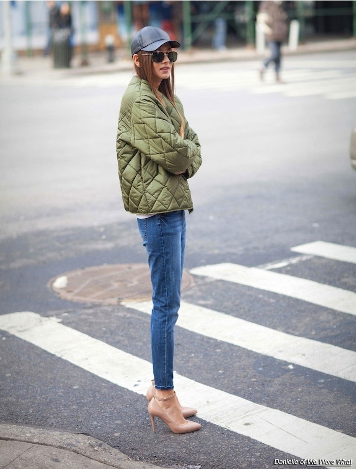 puffer jacket and jeans 3