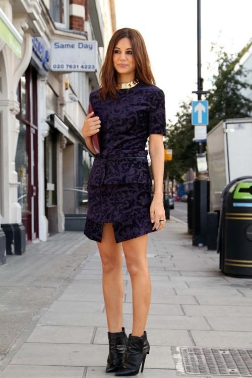 velvet dress look 1