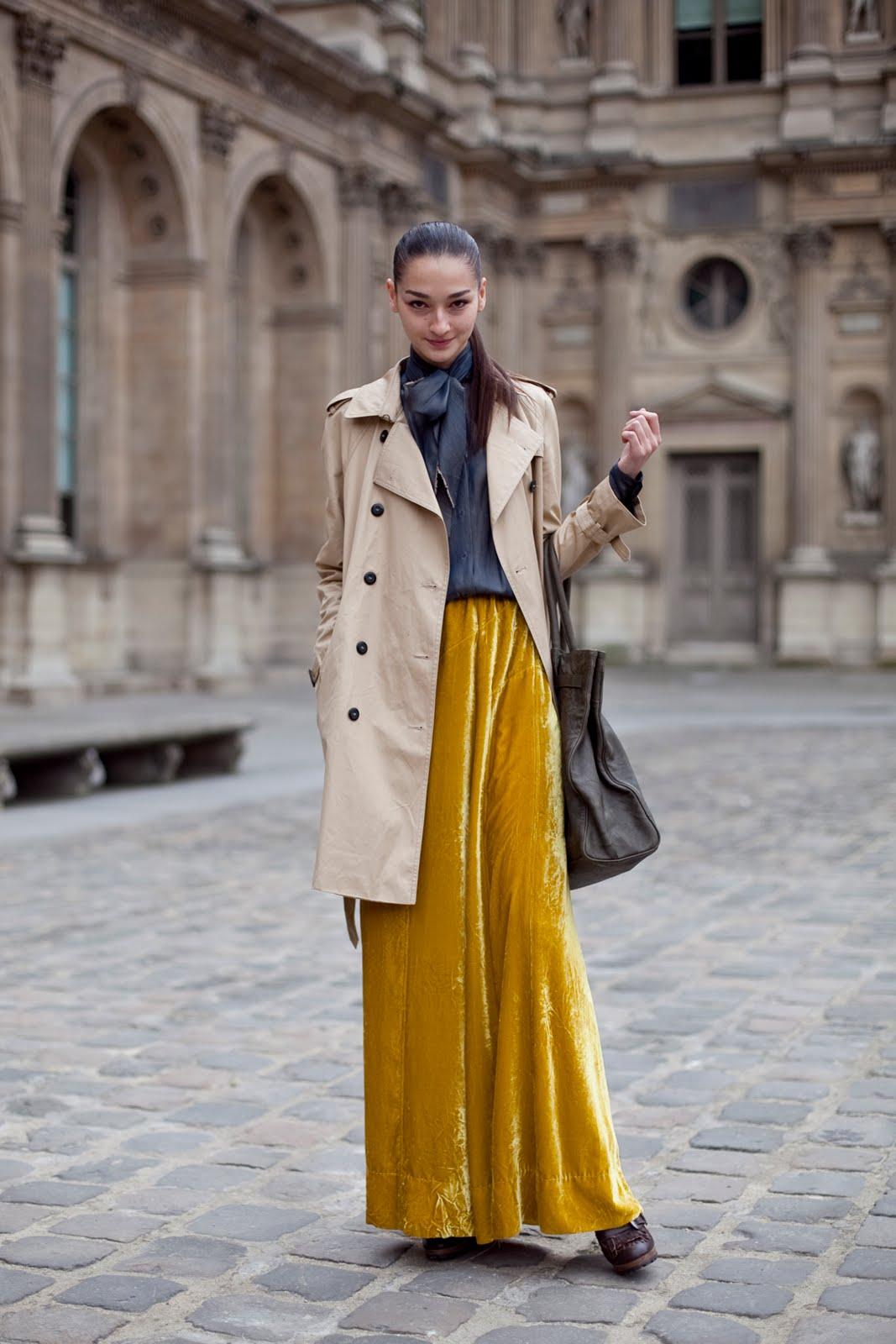velvet look street style 1