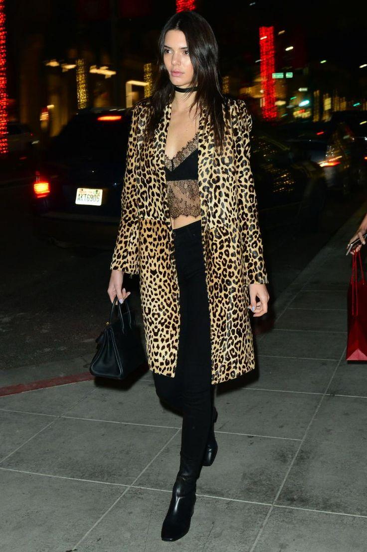 leopard coat kendall jenner 2