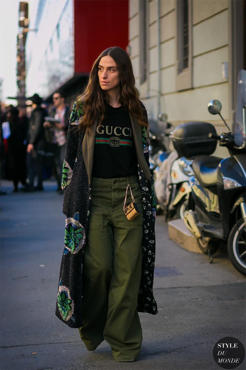 The mini bag + the outsize coat styledumonde