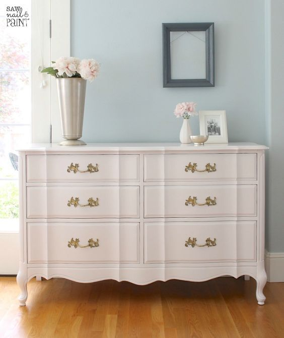 white dresser make over