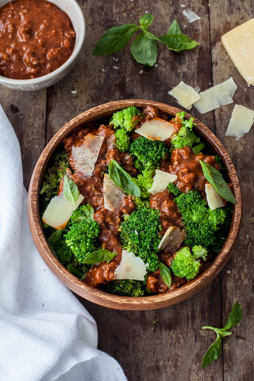Jimena agois brocoli con bolognesa