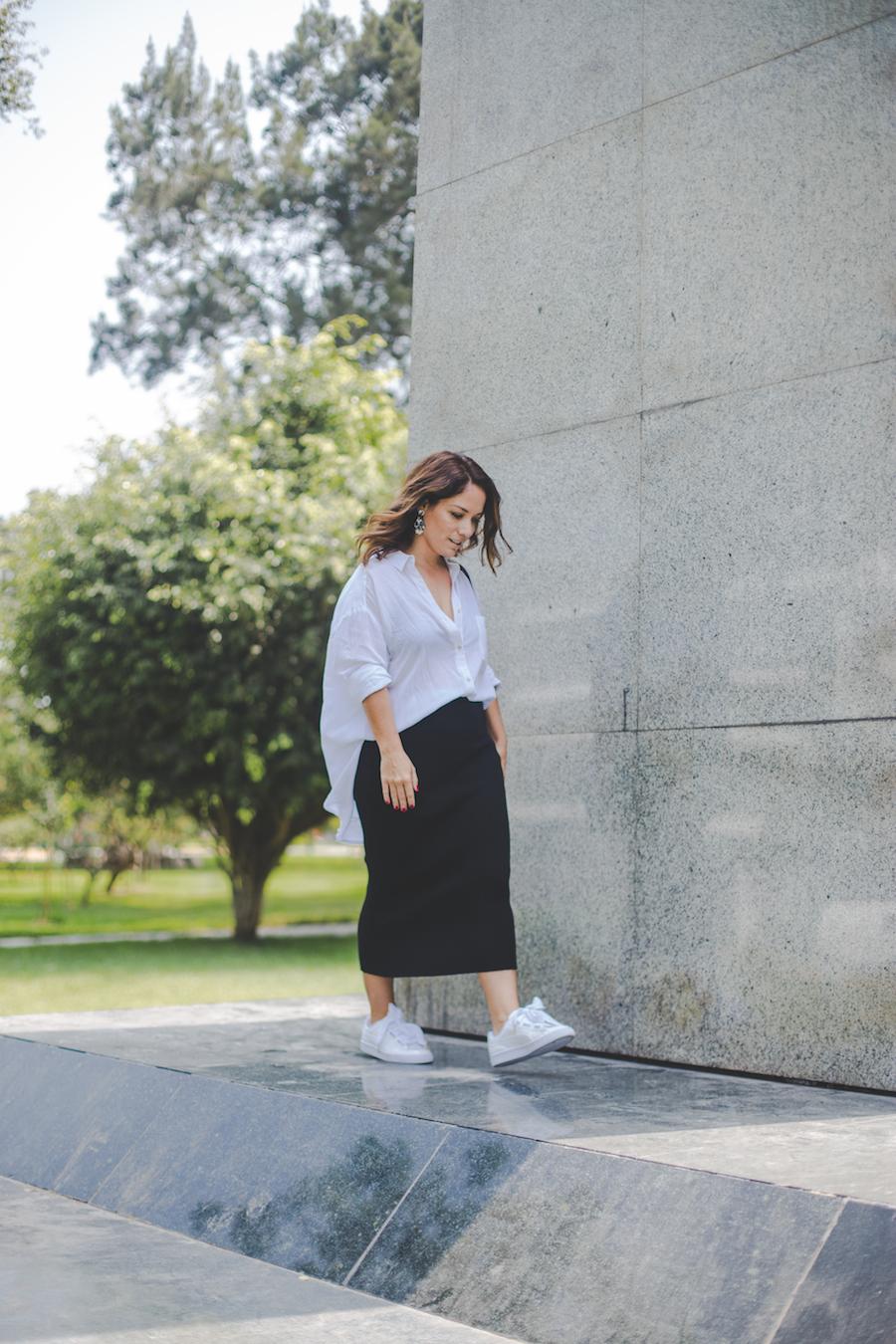 La vida de Serendipity - Camisa blanca - Black Midi Pencil Skirt El Clóset de mi hermana - Puma Basket Heart 1