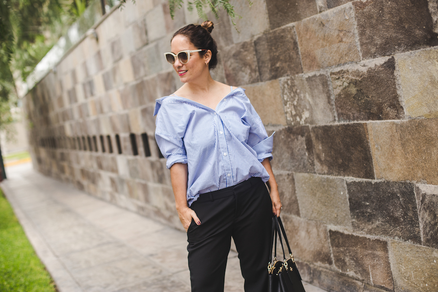 Tamalee' shirt - Blusa Olympia Banana Republic black trousers - Fendi sunglasses -  La Vida de Serendipity 1
