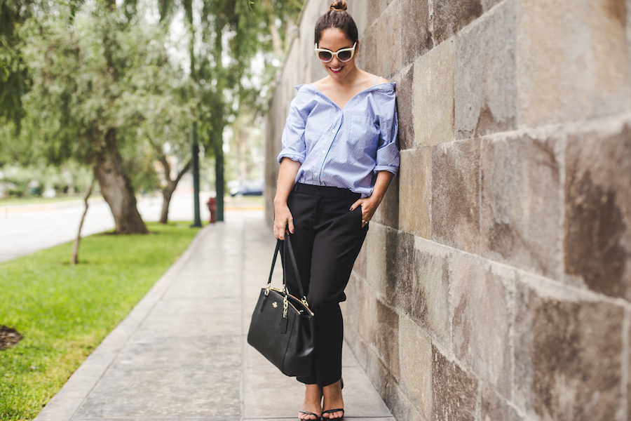 Tamalee' shirt - Blusa Olympia Banana Republic black trousers - Fendi sunglasses -  La Vida de Serendipity 4