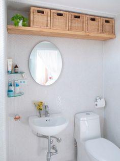 small bathroom storage ideas - cómo aprovechar el espacio en baños pequeños 2