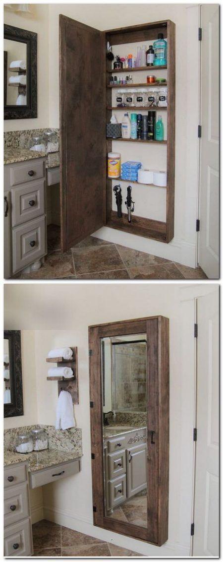small bathroom storage ideas - cómo aprovechar el espacio en baños pequeños  4