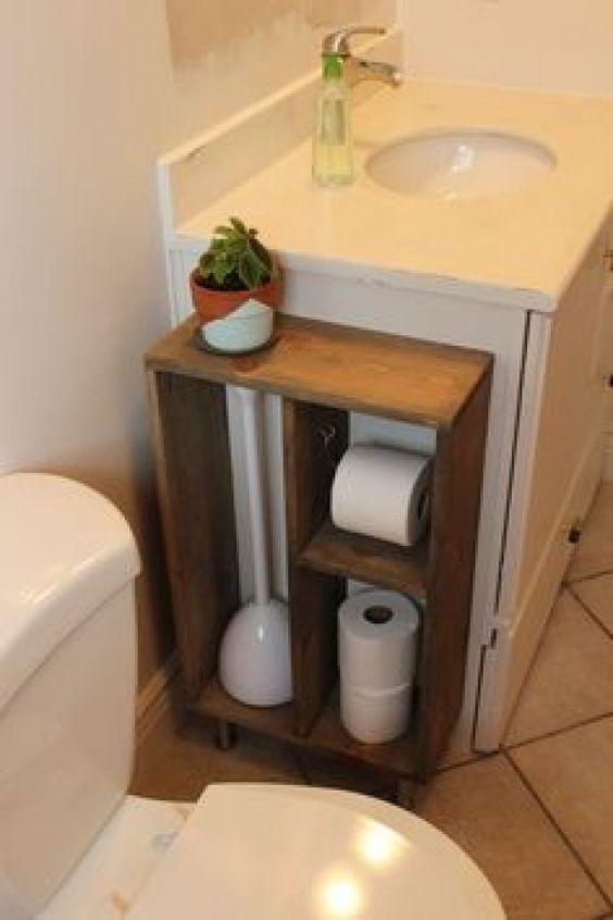 small bathroom storage ideas - cómo aprovechar el espacio en baños pequeños  6