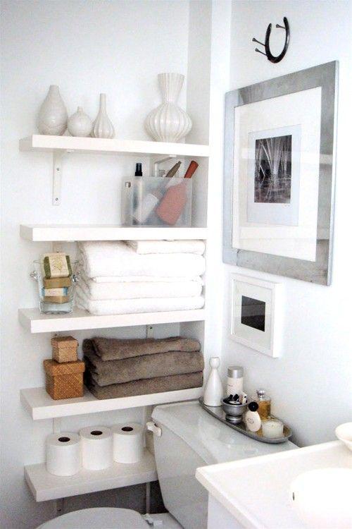 small bathroom storage ideas - cómo aprovechar el espacio en baños pequeños 7