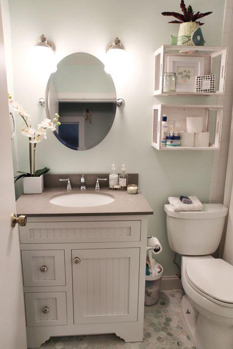 small bathroom storage ideas - cómo aprovechar el espacio en baños pequeños 9