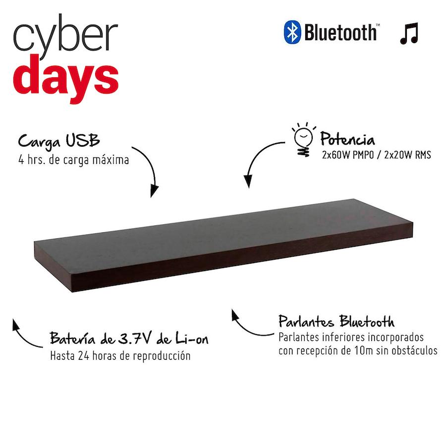 7. Repisa con parlante Bluetooth