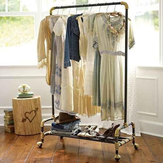 invest in a decorative garment rack