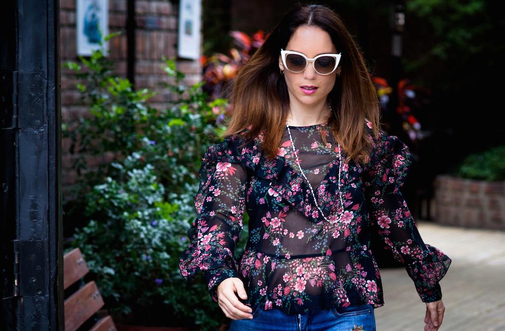 La Vida de Serendipity - zara see through winter blouse . Fendi 2017 sun Glasses - Vintage Jewelry 3
