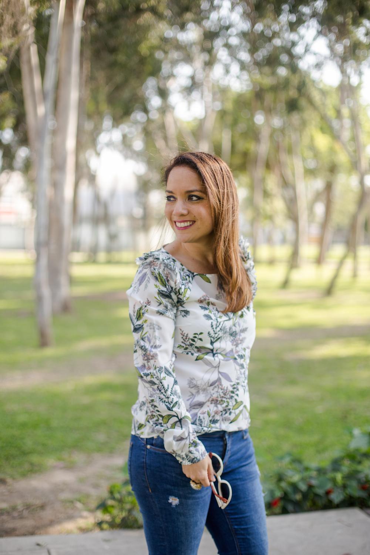 La vida de Serendipity - Banana Republic Floral blouse 4