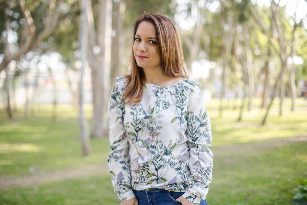 La vida de Serendipity - Banana Republic Floral blouse 8