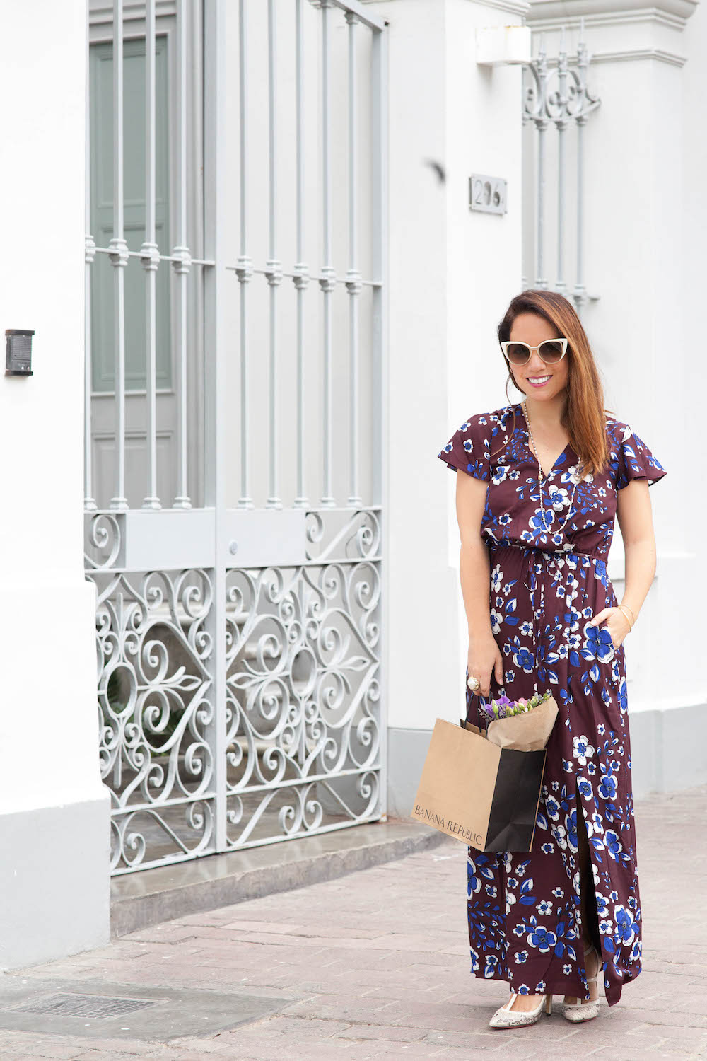 La vida de Serendipity - Banana Republic Maxi Floral Dress - Fendi Sunglasses -  1