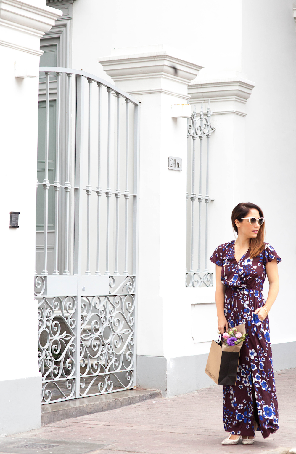 La vida de Serendipity - Banana Republic Maxi Floral Dress - Fendi Sunglasses -  2