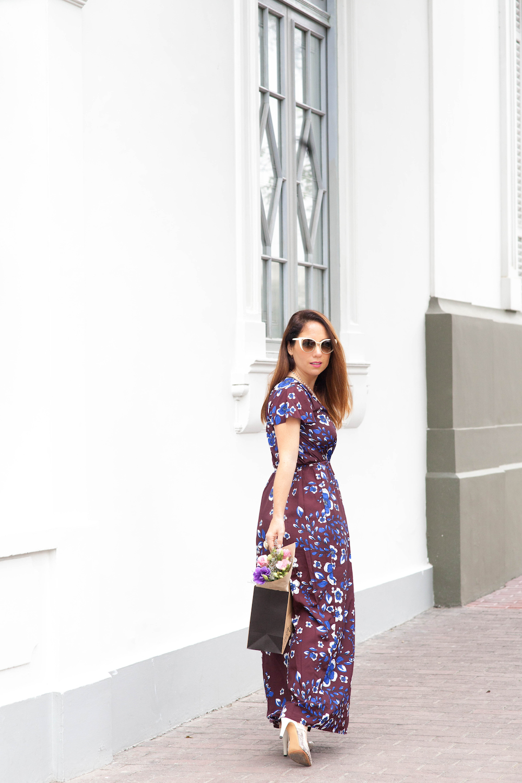La vida de Serendipity - Banana Republic Maxi Floral Dress - Fendi Sunglasses -  5