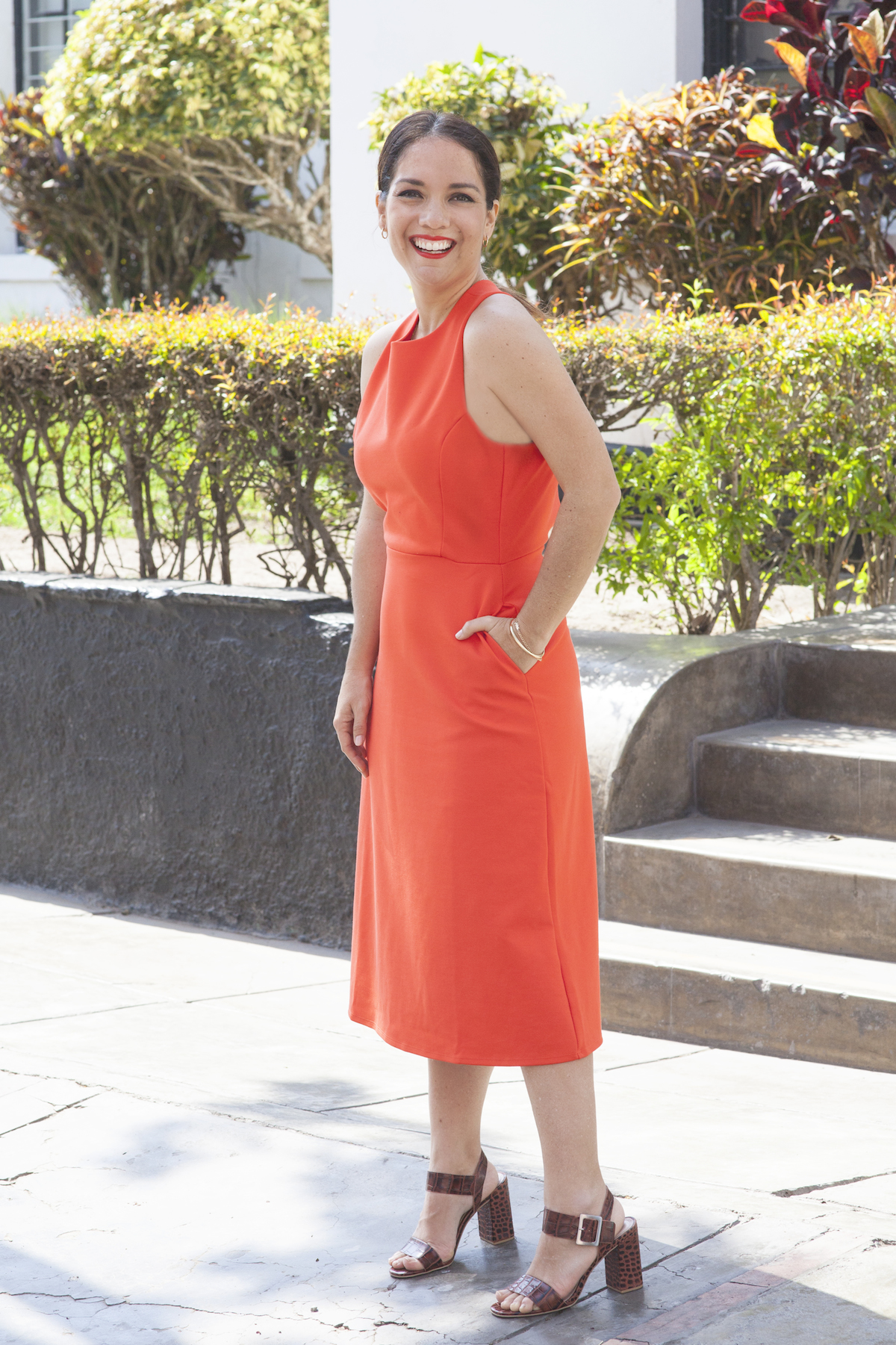 Banana Republic Orange dress NWT - La Vida de Serendipity 2