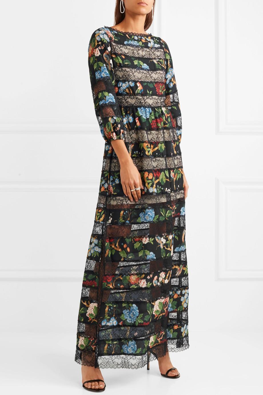 alice and olivia fall 2018 print dress
